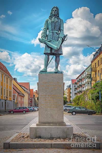 Wall Art - Photograph - Karlskrona Hans Wachtmeister Statue Monument by Antony McAulay