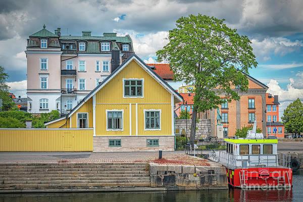 Wall Art - Photograph - Karlskrona Harbour Cityscape by Antony McAulay