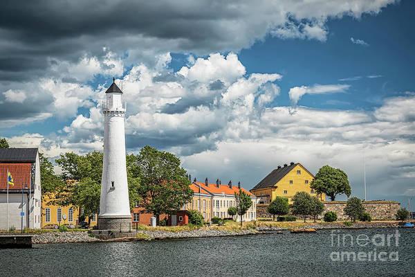 Wall Art - Photograph - Karlskrona Stumholmen Lighthouse Landscape by Antony McAulay