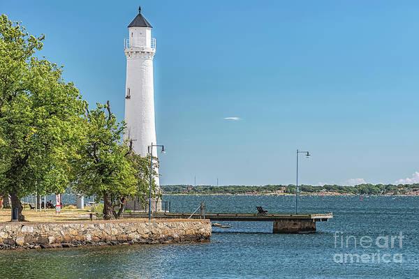 Wall Art - Photograph - Karlskrona Stumholmen Lighthouse Seascape by Antony McAulay