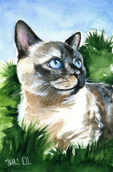 Painting - Karma Kitty by Dora Hathazi Mendes