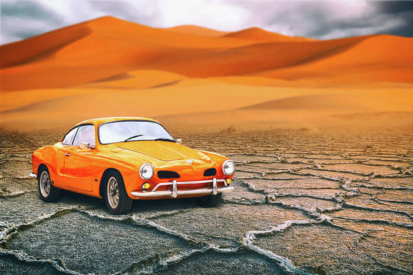 Wall Art - Mixed Media - Karmann Ghia by Iryna Goodall