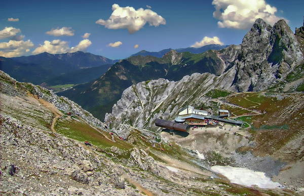 Photograph - Karwendelbahn Mountain Station by Anthony Dezenzio