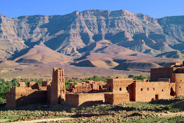 Casbah Photograph - Kasbah In Atlas Mountain by Visions Of Our Land