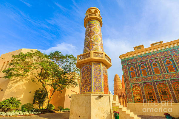 Photograph - Katara Mosque And Minaret by Benny Marty