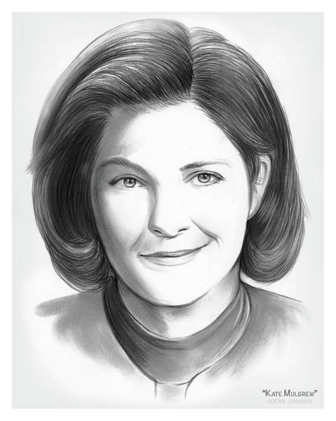 Wall Art - Drawing - Kate Mulgrew by Greg Joens