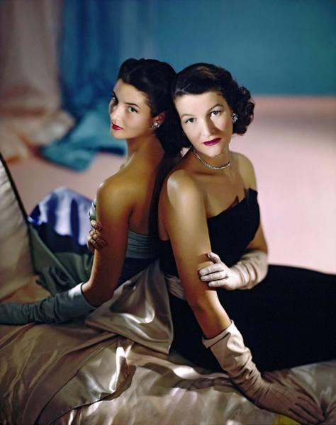 Wall Art - Photograph - Katharine White Caulkins And Wendy Burden by Horst P. Horst