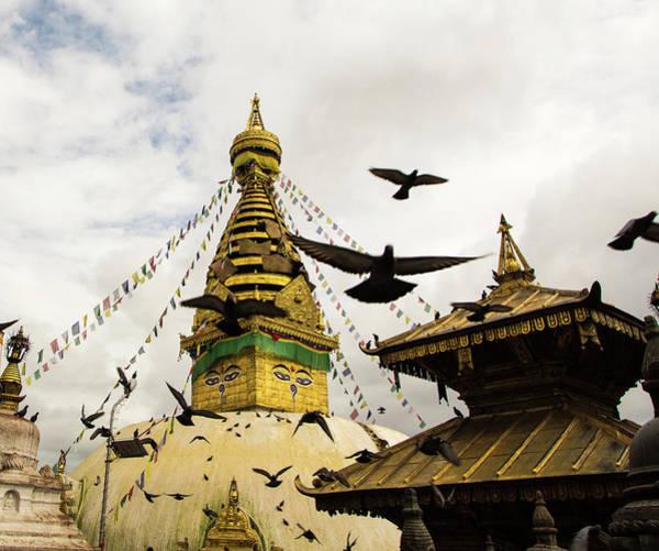 Nepal Wall Art - Photograph - Kathmandu Monkey Temple by @ Didier Marti