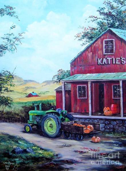 Wall Art - Painting - Katie's Country Store  by Lee Piper