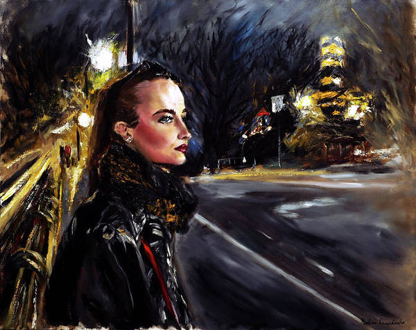 Painting - Katriina At Central Park I by Ruslana Levandovska