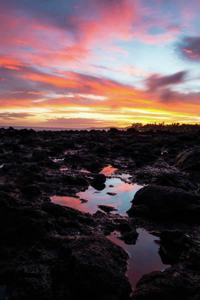 Costal Photograph - Kauai Sunset by Hudson Marsh