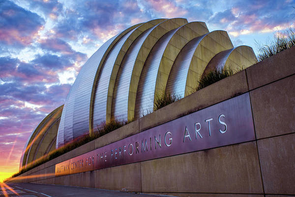 Photograph - Kauffman Center Sunrise - Downtown Kansas City by Gregory Ballos