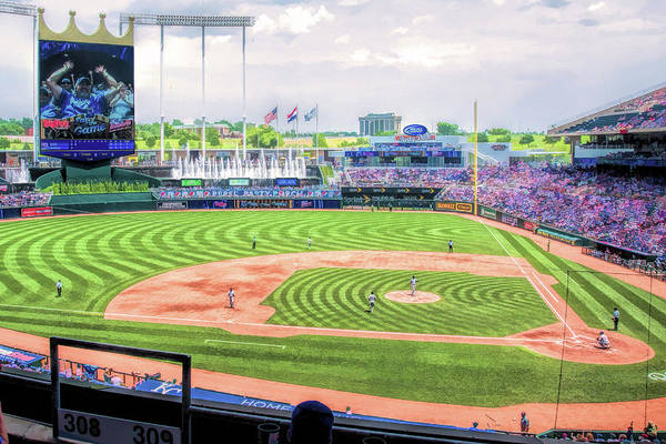 Painting - Kauffman Stadium Kansas City Royals Baseball Ballpark Stadium by Christopher Arndt