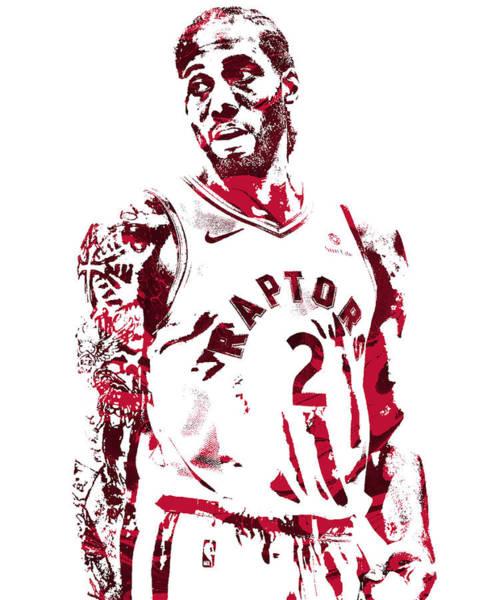 Wall Art - Mixed Media - Kawhi Leonard Toronto Raptors Pixel Art 201 by Joe Hamilton