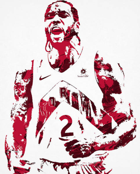 Wall Art - Mixed Media - Kawhi Leonard Toronto Raptors Pixel Art 22 by Joe Hamilton