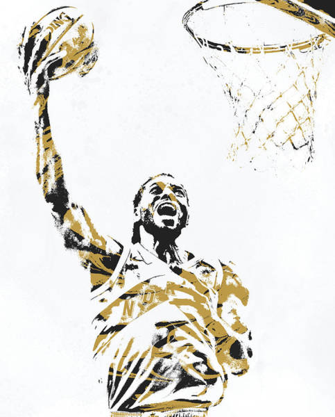Wall Art - Mixed Media - Kawhi Leonard Toronto Raptors Pixel Art 30 by Joe Hamilton