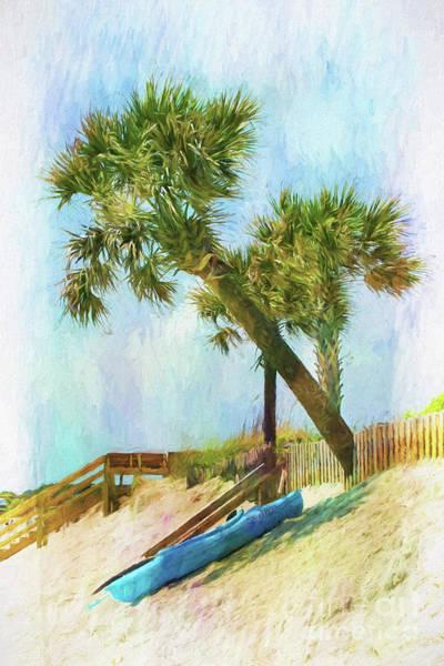 Wall Art - Digital Art - Kayak Siesta On Isle Of Palms by Sharon McConnell