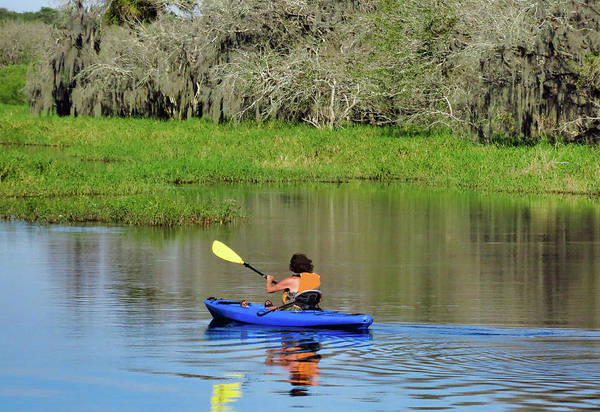 Photograph - Kayaker In The Wild by Rosalie Scanlon