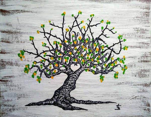 Drawing - Kayaker Love Tree Art by Aaron Bombalicki
