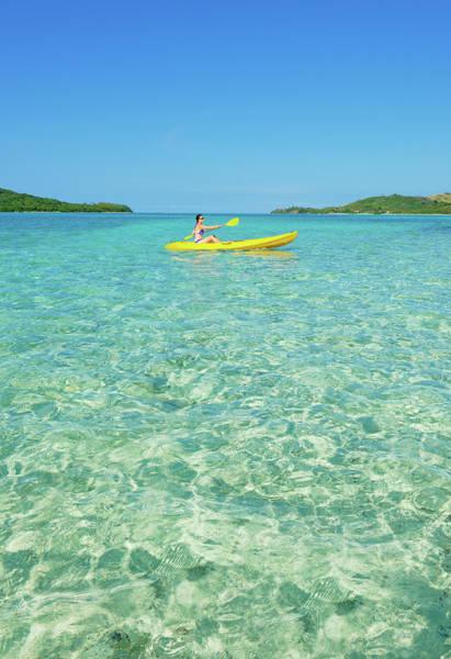 Oar Photograph - Kayaker, Yasawa Island Group, Fiji by Marco Simoni
