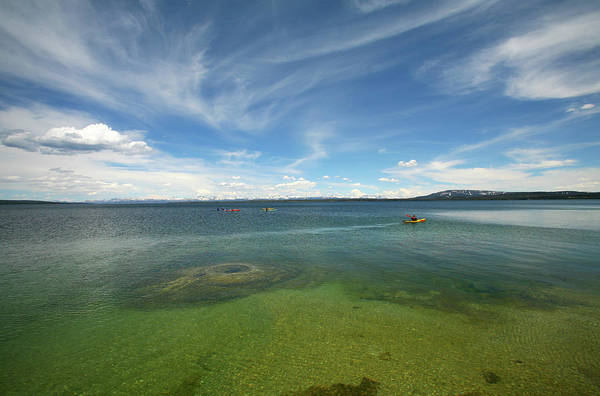 June Photograph - Kayakers On Lake Yellowstone by David Epperson