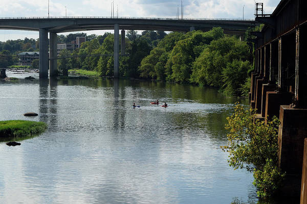 Photograph - Kayaking On The James River by Karen Harrison
