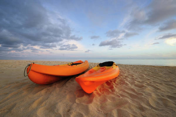 Rarotonga Photograph - Kayaks On Beach by Freder