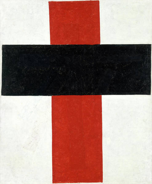 Wall Art - Painting - Kazimir Malevich-hieratic Suprematist Cross, 1921 by Kazimir Malevich