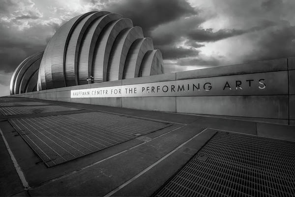 Photograph - Kc Kauffman Center In Monochrome by Gregory Ballos