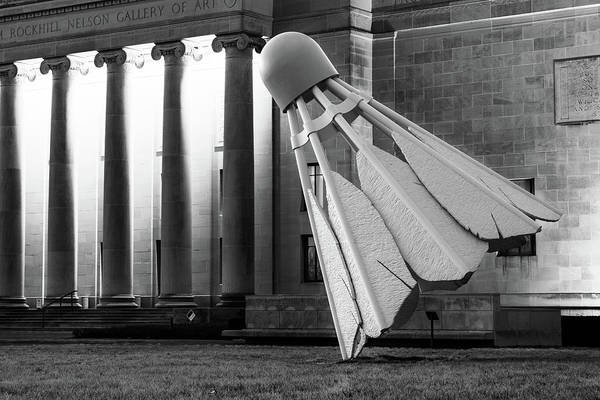 Photograph - Kc Shuttlecock At Nelson Atkins Museum - Monochrome Edition by Gregory Ballos