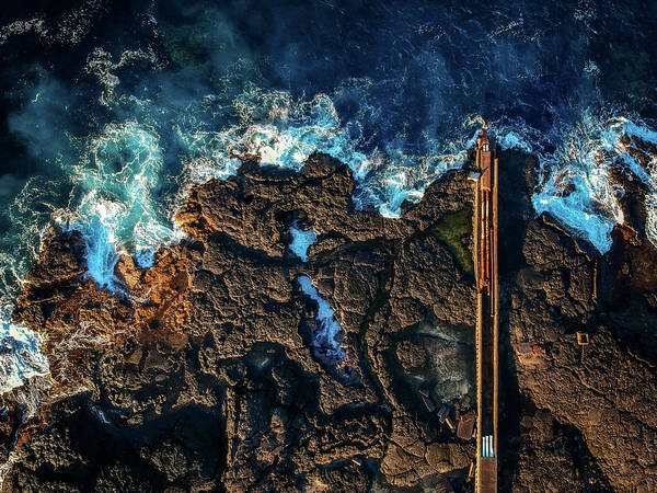 Photograph - Keahole Deep Sea Pipes by Christopher Johnson