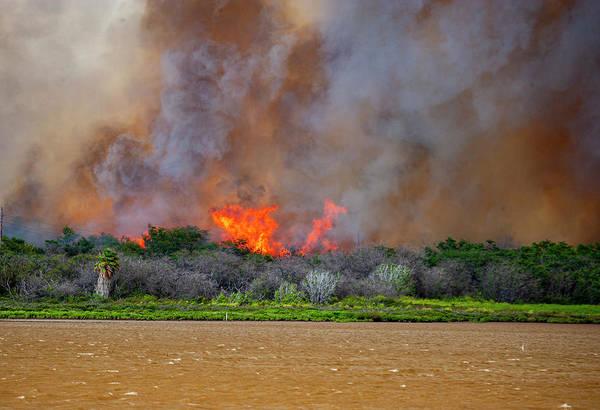 Photograph - Kealia Pond Fire by Anthony Jones