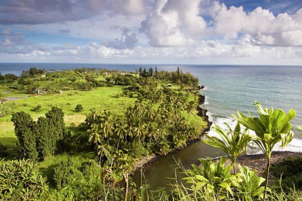 Maui Photograph - Keanea Peninsula From Hana Highway by John Elk