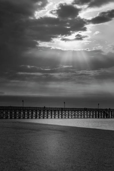 Photograph - Keansburg Fishing Pier Nj Bw by Susan Candelario