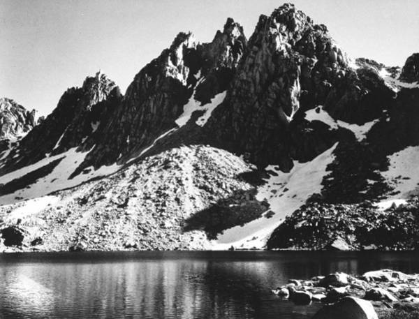 Photograph - Kearsarge Pinnacles, Partially Snow-cove by Ansel Adams