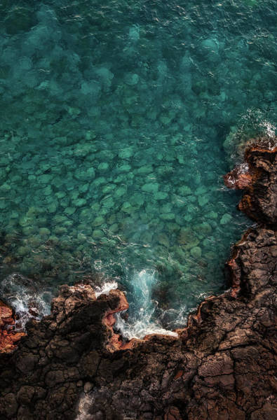 Photograph - Keauhou Shoreline by Christopher Johnson