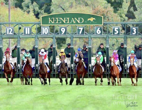 Keeneland Starting Gate Art Print