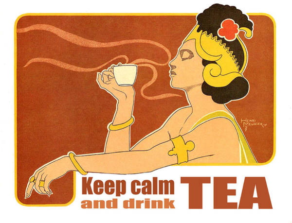 Wall Art - Digital Art - Keep Calm And Drink Tea by Long Shot