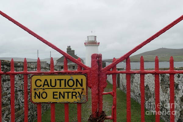 Photograph - Keep Out by Peter Skelton