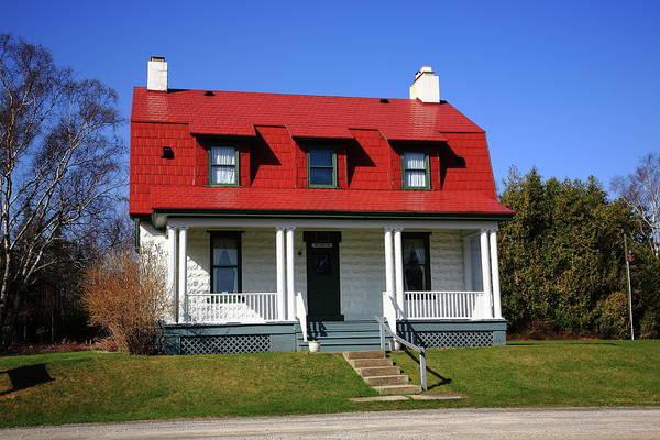 Photograph - Keeper's House - Presque Isle Light Michigan by Frank Romeo