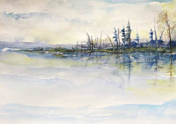 Painting - Lake Blessings by Robin Miller-Bookhout