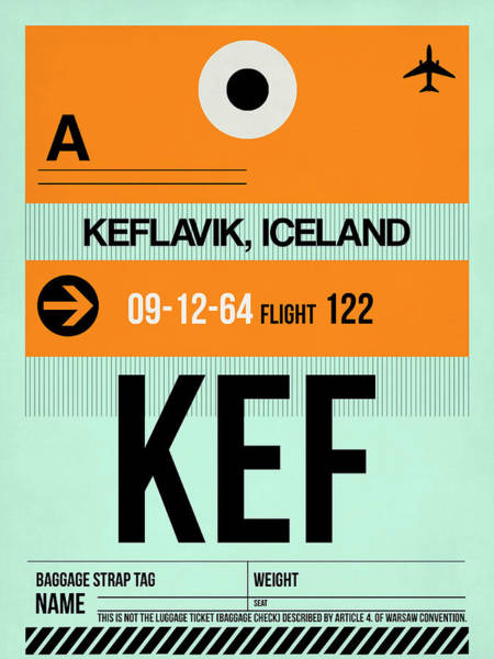 Wall Art - Digital Art - Kef Keflavik Luggage Tag II by Naxart Studio