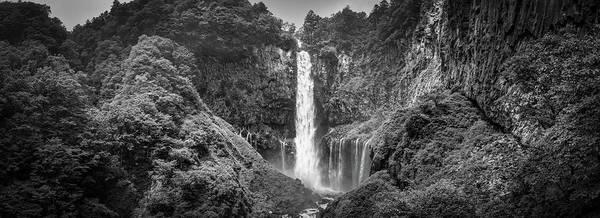 Wall Art - Photograph - Kegon Falls Bw by William Chizek