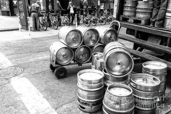 The Keg Photograph - Kegs Of Beer In New York City by John Rizzuto