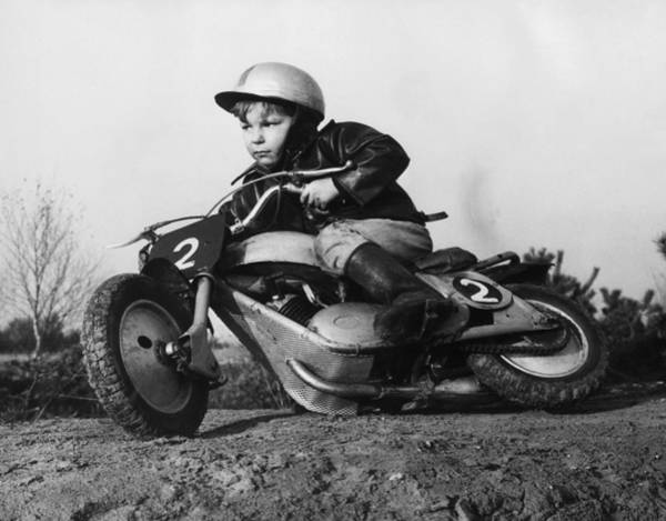 Crash Helmet Photograph - Keir Doe by Chris Ware