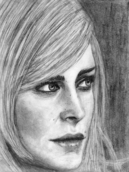 Drawing - Keira Metz Of Carreras Interpretation by Luke Mitchell