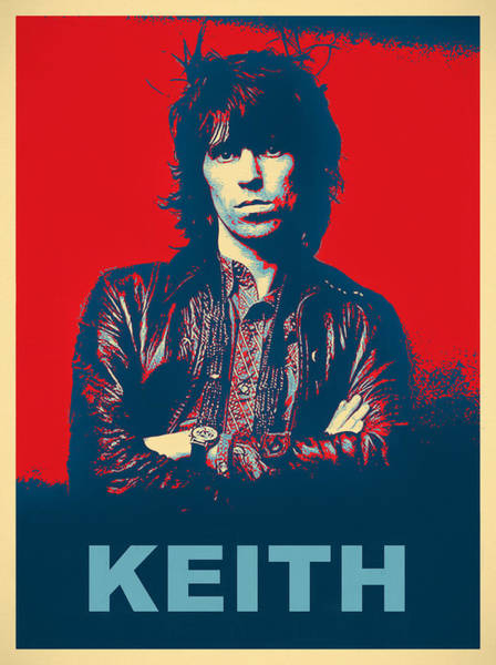 Wall Art - Mixed Media - Keith Pop Art Poster by Dan Sproul