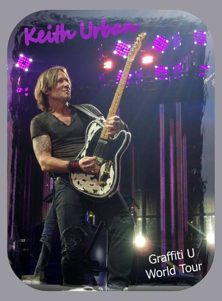 Photograph - Keith Urban Graffiti U by James Peterson