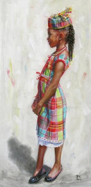 Saint Lucia Painting - Kejeem Standing 2 by Jonathan Guy-Gladding JAG