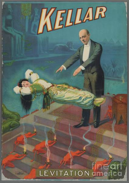 Wall Art - Painting - Kellar - Vintage Magicians Poster by Esoterica Art Agency